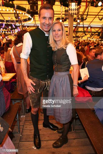 Kai Pflaume and his wife Ilke Pflaume during the Oktoberfest 2019 opening at Theresienwiese on September 21 2019 in Munich Germany