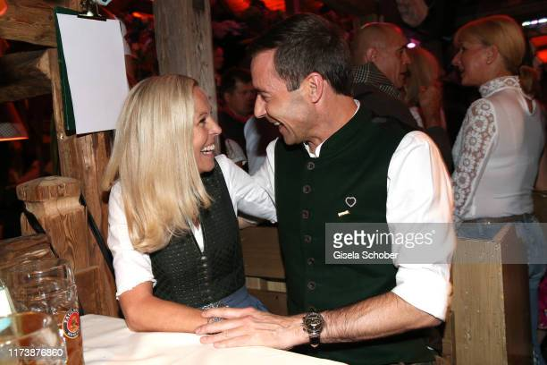 Kai Pflaume and his wife Ilke Pflaume during the Oktoberfest 2019 at Kaeferschaenke beer tent / Theresienwiese on October 5 2019 in Munich Germany