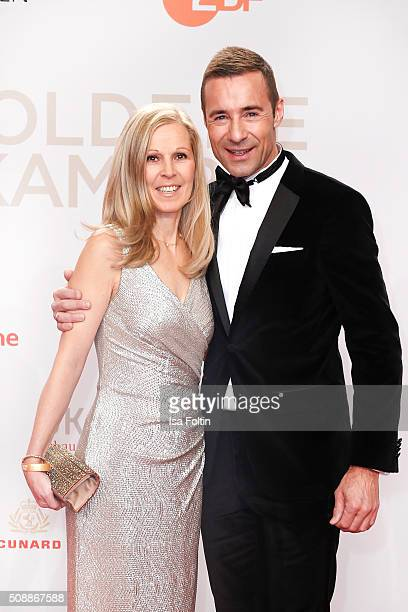 Kai Pflaume and his wife Ilke Pflaume the attend Goldene Kamera 2016 on February 6 2016 in Hamburg Germany