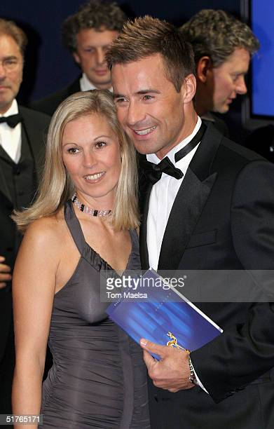 Kai Pflaume and Ilke Pflaume arrive at the Bambi Award at Theatre im Hafen on November 18 2004 in Hamburg Germany