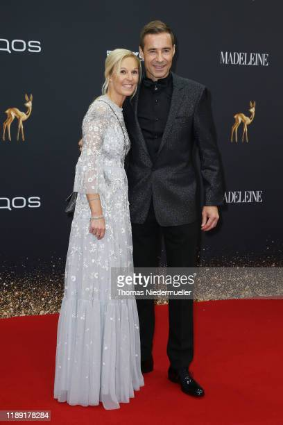 Kai Pflaume and Ilke Pflaume attend the 71st Bambi Awards at Festspielhaus BadenBaden on November 21 2019 in BadenBaden Germany