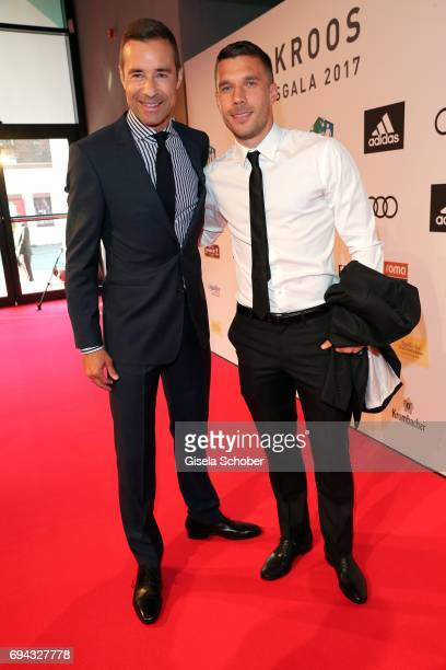 Kai Pflaume and Lukas Podolski during the Toni Kroos charity gala benefit to the Toni Kroos Foundation at 'The Palladium' on June 9 2017 in Cologne...