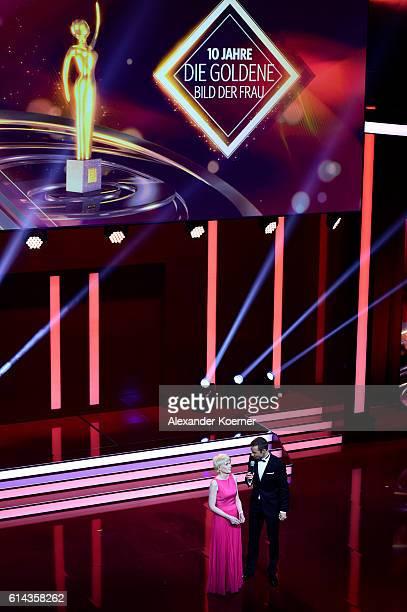 Kai Pflaume and Sandra Immoor attend the 'Goldene Bild der Frau' award at Stage Theater on October 13 2016 in Hamburg Germany