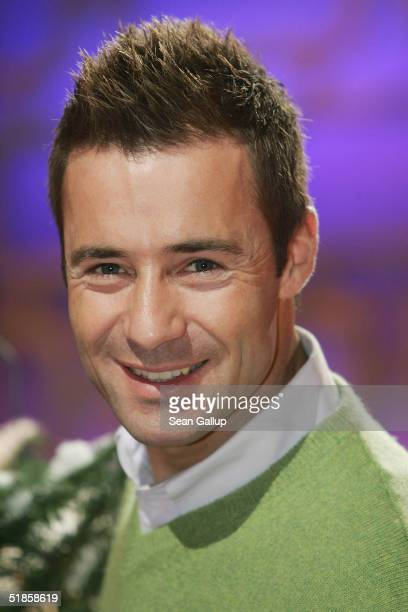 Kai Pflaume attends a photocall on the set of his new TV show Stars am Limit at SAT1 studios on December 14 2004 in Berlin Germany