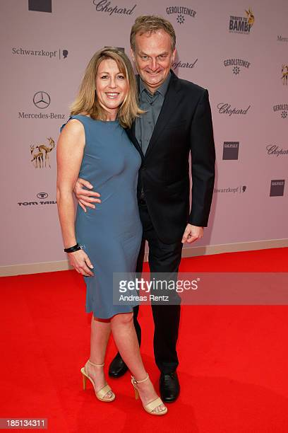 Kai Plasberg and Anne Gesthuysen arrive at Tribute To Bambi at Station on October 17 2013 in Berlin Germany
