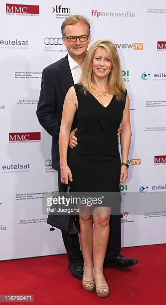 Kai Plasberg and Anne Gesthuysen attend the SemiFinal Judgings Of International Emmy Awards 2011 at the Marienburg on June 17 2011 in Cologne Germany