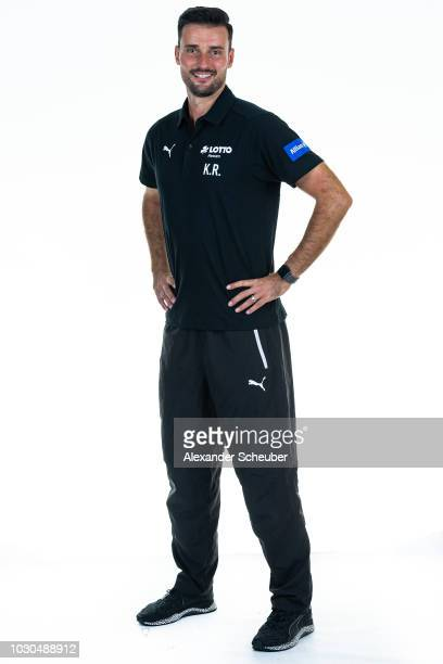 Kai Rennich poses during the 1 FFC Frankfurt Women's team presentation on September 7 2018 in Frankfurt am Main Germany