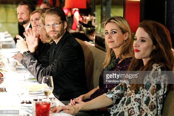 Kai Rose Bettina Cramer and Julia Malik attend the 5th anniversary celebrations of the GRAZIA magazine at Grill Royal on October 08 2015 in Berlin...