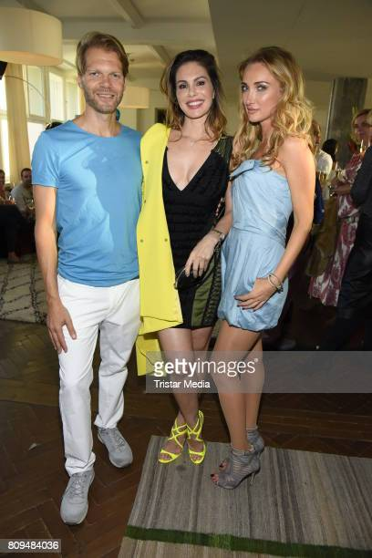 Kai Rose Daniela Dany Michalski and Marina Rudolph attend the Klambt Fashion Cocktail in Berlin at Soho House on July 5 2017 in Berlin Germany