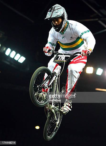 Kai Sakakibara of Australia during day three of the UCI BMX World Championships at Vector Arena on July 26 2013 in Auckland New Zealand