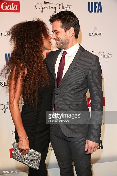 Kai Schumann and his girlfriend Marva Schreiber during the 'Berlin Opening Night of GALA UFA Fiction' at Das Stue Hotel on February 11 2016 in Berlin...