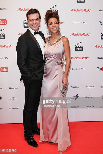Kai Schumann and Marva Schreiber attend the 99FireFilmAward 2016 at Admiralspalast on February 18 2016 in Berlin Germany