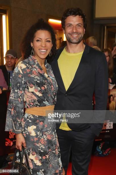 Kai Schumann and partner Mava Schreiber attend 'Spielmacher' Premiere at Lichtburg on April 10 2018 in Essen Germany