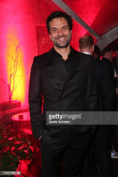 """Kai Schumann attends the Berlin Opening Night by Bertelsmann Content Alliance at hotel """"Das Stue"""" on February 20, 2020 in Berlin, Germany."""