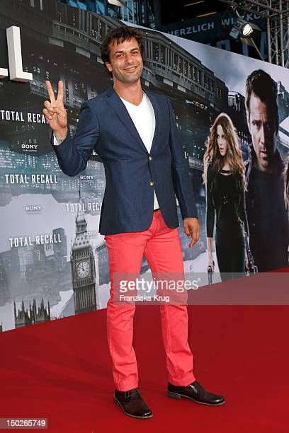 Kai Schumann attends the German premiere of 'Total Recall' at Sony Center on August 13 2012 in Berlin Germany