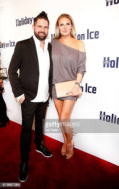 Kai Schwarz and former german gymnast Magdalena Brzeska attends the 'Holiday on Ice' gala at Hotel Atlantic on October 19, 2016 in Hamburg, Germany.