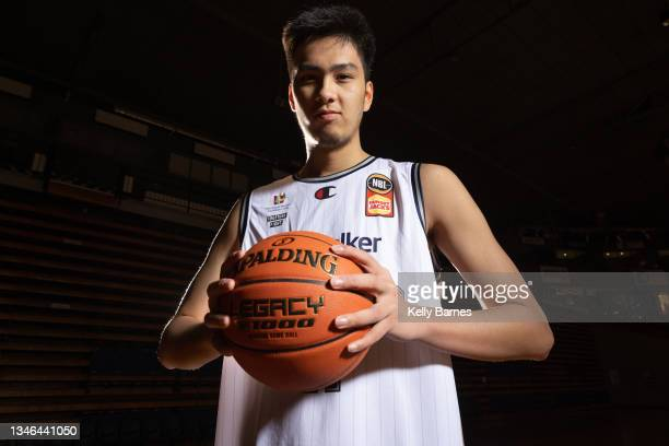 Kai Sotto / Mojave King poses during a portrait session after joining the Adelaide 36ers for the upcoming NBL season, on October 13, 2021 in...