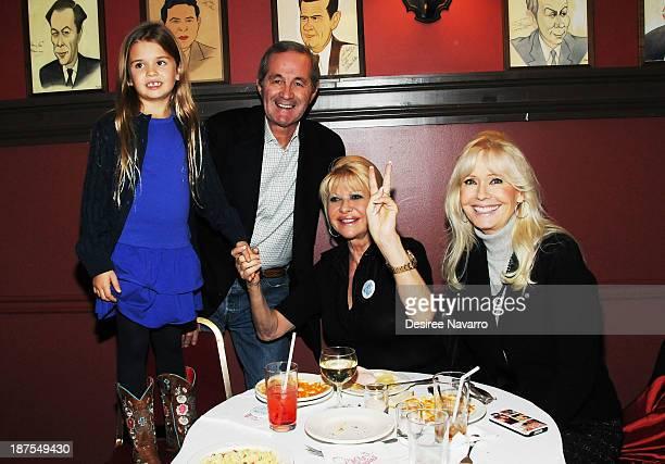 Kai Trump Christian Curato Ivana Trump and Bonnie Hayden attend the 5000 performance celebration of 'Mamma Mia' on Broadway at Sardi's on November 9...