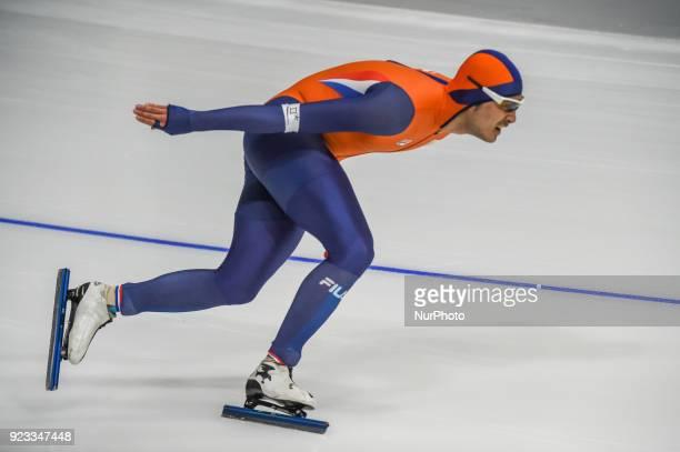 Kai Verbij of Netherlands at 1000 meter speedskating at winter olympics Gangneung South Korea on February 23 2018