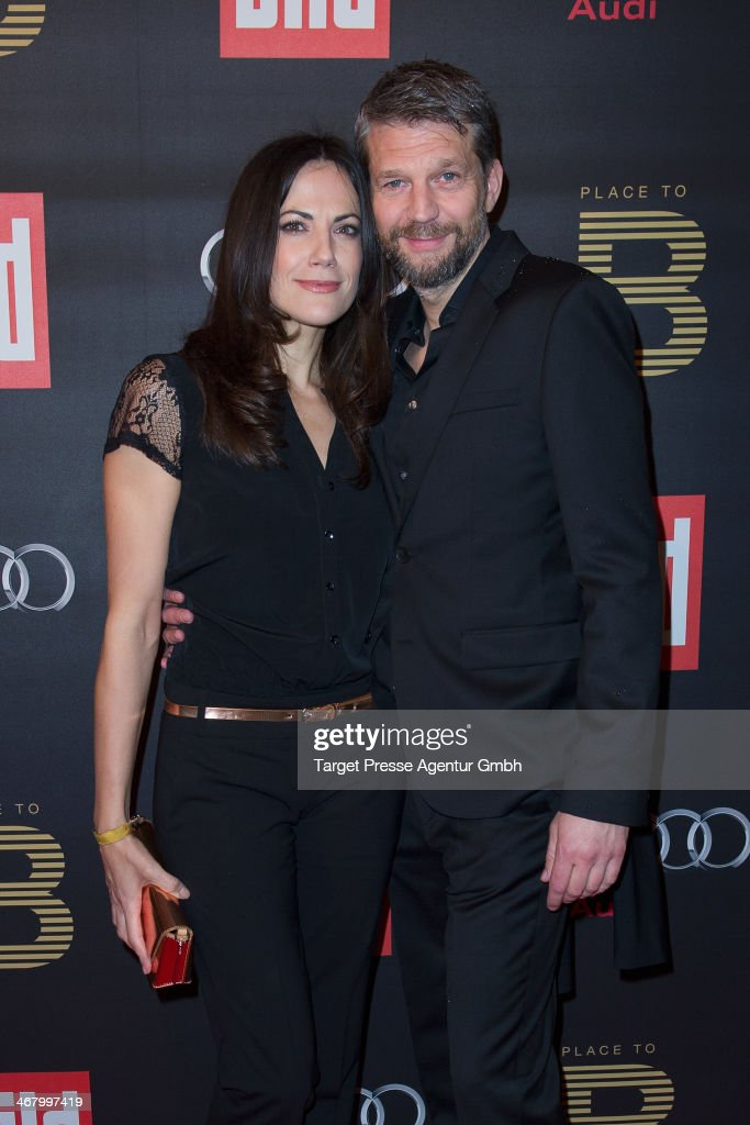 Kai Wiesinger and Bettina Zimmermann attend the BILD 'Place to B' Party at Grill Royal on February 8, 2014 in Berlin, Germany.