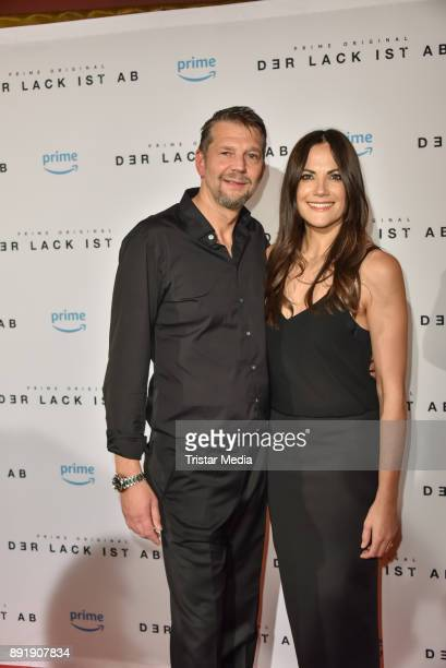 Kai Wiesinger and Bettina Zimmermann attend the photo call of the 'Der Lack ist ab' at Astor Film Lounge on December 13 2017 in Berlin Germany