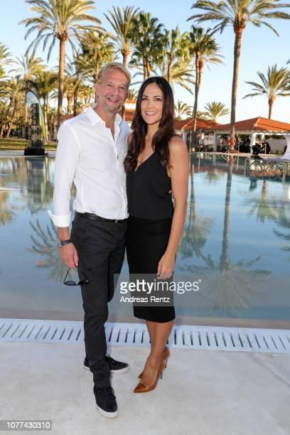 Kai Wiesinger and Bettina Zimmermann attend the reopening of ROBINSON Club Jandia Playa on December 04 2018 in Fuerteventura Spain