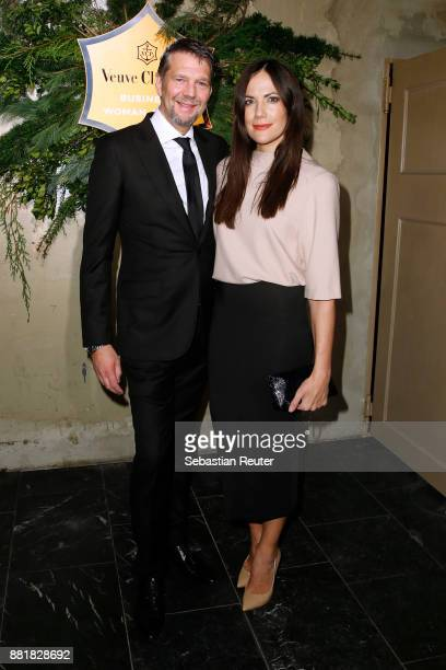 Kai Wiesinger and Bettina Zimmermann attend the Veuve Clicquot Business Woman Award 2017 at The Grand on November 29 2017 in Berlin Berlin