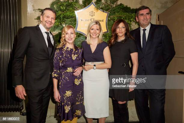Kai Wiesinger and Fraenzi Kuehne LeaSophie Cramer Alice Brauner and JeanMarc Gallot attend the Veuve Clicquot Business Woman Award 2017 at The Grand...