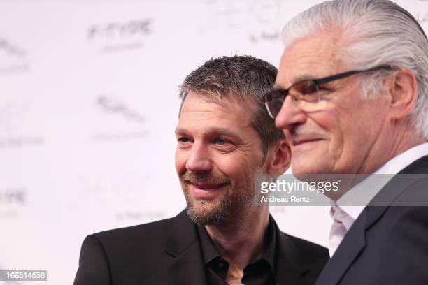 Kai Wiesinger and Sky Du Mont attend the Jaguar FType short film 'The Key' Premiere at eWerk on April 13 2013 in Berlin Germany