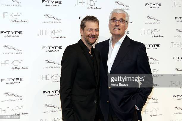 Kai Wiesinger and Sky Dumont attend the Jaguar F-Type commercial short movie 'The Key' premiere at e-Werk on April 13, 2013 in Berlin, Germany.