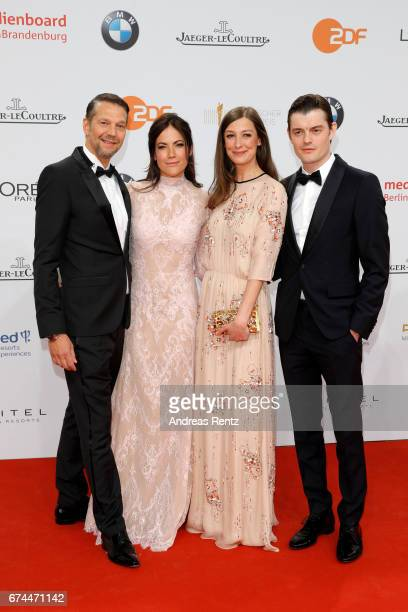 Kai Wiesinger Bettina Zimmermann Alexandra Maria Lara and Sam Riley attend the Lola German Film Award red carpet at Messe Berlin on April 28 2017 in...
