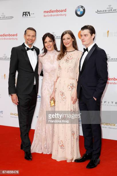 Kai Wiesinger Bettina Zimmermann Alexandra Maria Lara and Sam Riley during the Lola German Film Award red carpet arrivals at Messe Berlin on April 28...
