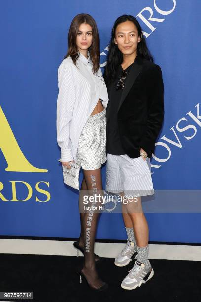 Kaia Gerber and Alexander Wang attend the 2018 CFDA Awards at Brooklyn Museum on June 4 2018 in New York City