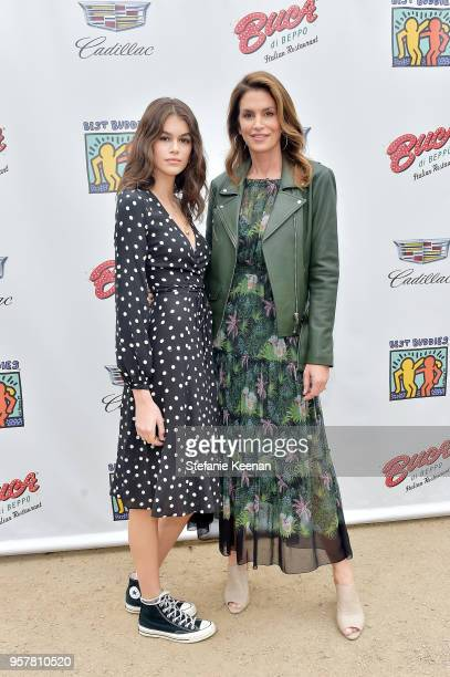 Kaia Gerber and Cindy Crawford attend 2018 Best Buddies Mother's Day Brunch Hosted by Vanessa Gina Hudgens on May 12 2018 in Malibu California