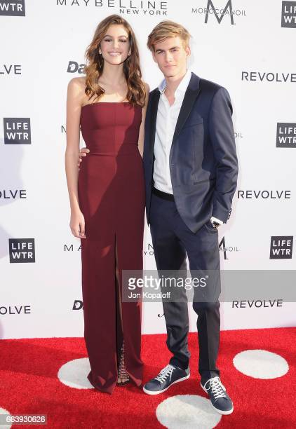 Kaia Gerber and Presley Gerber arrive at the Daily Front Row's 3rd Annual Fashion Los Angeles Awards at the Sunset Tower Hotel on April 2 2017 in...