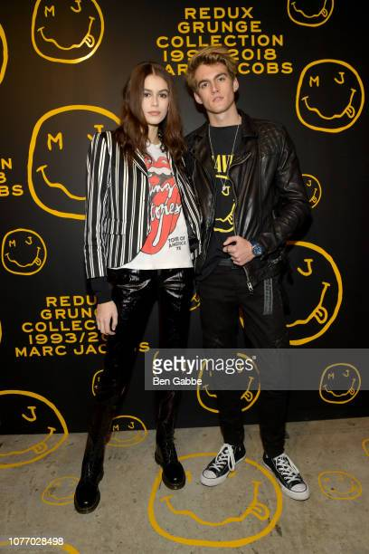 Kaia Gerber and Presley Gerber attend as Marc Jacobs Sofia Coppola Katie Grand celebrate The Marc Jacobs Redux Grunge Collection and the opening of...