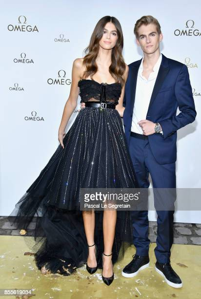 Kaia Gerber and Presley Gerber attend 'Her Time' Omega Photocall as part of the Paris Fashion Week Womenswear Spring/Summer 2018 on September 29 2017...