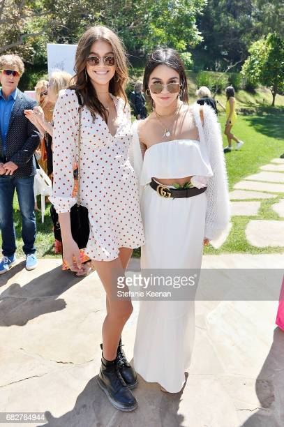 Kaia Gerber and Vanessa Hudgens attend Cindy Crawford and Kaia Gerber host Best Buddies Mother's Day Brunch in Malibu CA sponsored by David Yurman on...