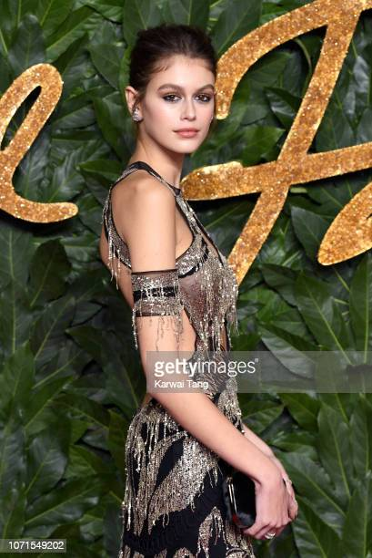 Kaia Gerber arrives at The Fashion Awards 2018 In Partnership With Swarovski at Royal Albert Hall on December 10 2018 in London England