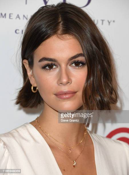 Kaia Gerber arrives at the Women's Guild Cedars-Sinai Annual Luncheon at Regent Beverly Wilshire Hotel on November 06, 2019 in Beverly Hills,...