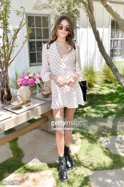 Kaia Gerber attends Cindy Crawford and Kaia Gerber host Best Buddies Mother's Day Brunch in Malibu CA sponsored by David Yurman on May 13 2017 in...
