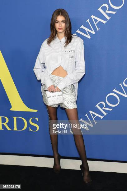 Kaia Gerber attends the 2018 CFDA Awards at Brooklyn Museum on June 4 2018 in New York City