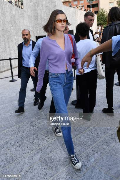 Kaia Gerber attends the Alberta Ferretti fashion show during the Milan Fashion Week Spring/Summer 2020 on September 18, 2019 in Milan, Italy.