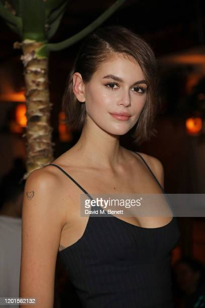 Kaia Gerber attends the LOVE Magazine LFW Party, celebrating issue 23 at The Standard, London on February 17, 2020 in London, England. LOVE magazine...