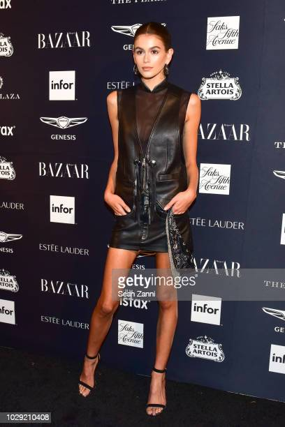 Kaia Gerber attends The Worldwide Editors Of Harper's Bazaar Celebrate ICONS by Carine Roitfeld presented by Infor Stella Artois FUJIFILM Estee...