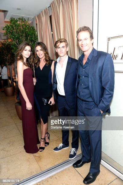 Kaia Gerber Cindy Crawford Presley Gerber and Rande Gerber attend the Daily Front Row's 3rd Annual Fashion Los Angeles Awards at Sunset Tower Hotel...