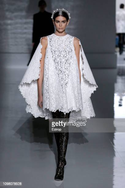 Kaia Gerber during the Givenchy Spring Summer 2019 show as part of Paris Fashion Week on January 22 2019 in Paris France