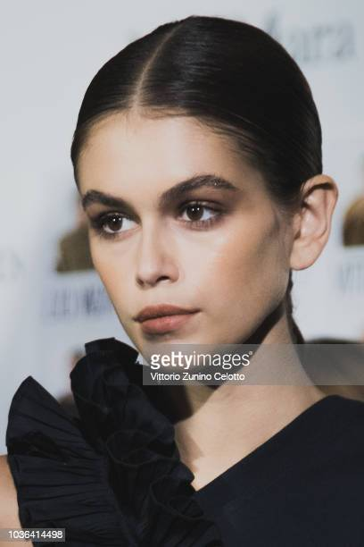 Kaia Gerber is seen backstage ahead of the Max Mara show during Milan Fashion Week Spring/Summer 2019 on September 20 2018 in Milan Italy