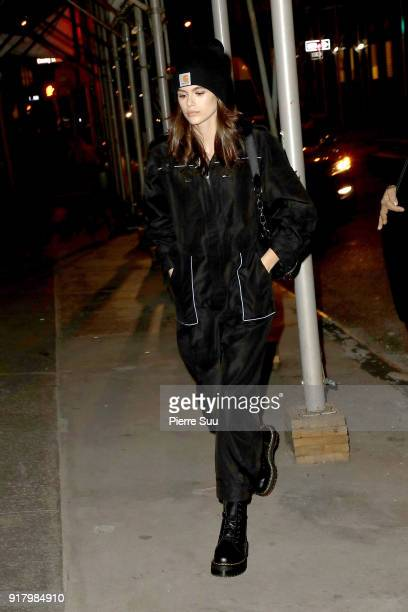 Kaia Gerber is seen in Soho on February 13 2018 in New York City