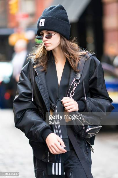 Kaia Gerber is seen in SoHo on February 8 2018 in New York City